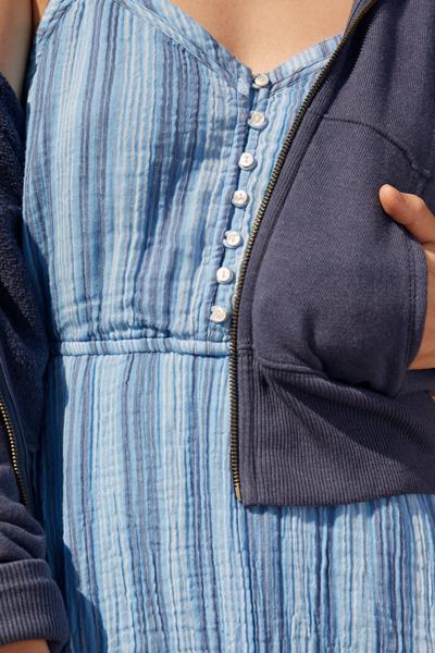 [여성] 면혼방 헤더 하프 후드 집업 자켓