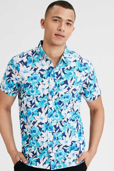[남성] 코튼 플로럴 반소매 셔츠