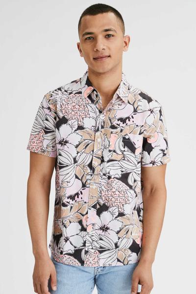 [남성] 플라워 패턴 반소매 셔츠
