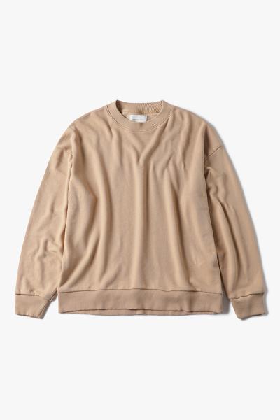 [여성] 면 혼방 오버사이즈핏 크루넥 맨투맨 티셔츠