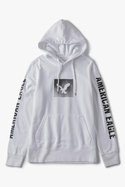 [남성] 면혼방 레귤러핏 로고 후드 티셔츠
