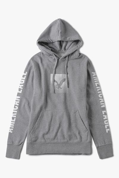 [남성] 면혼방 레귤러핏 로고 패치 후드 티셔츠