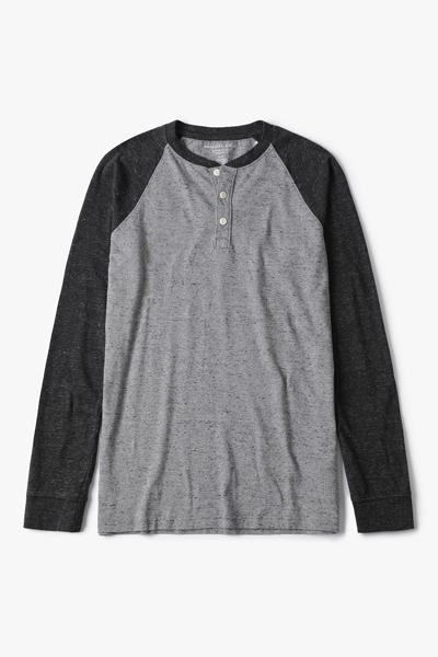 [남성] 코튼 파인 샌디 래글런 헨리넥 티셔츠