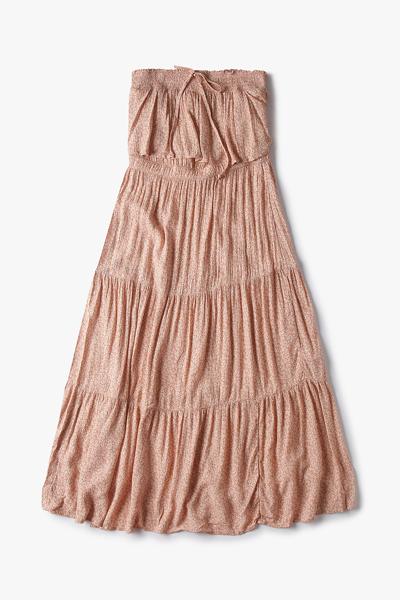여성 플로럴 튜브 티어드 드레스