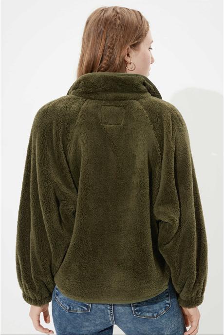 [여성] 플리스 루즈핏 스냅 포켓 자켓