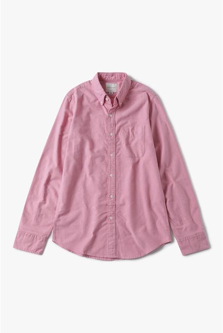 [남성] 코튼 슬림핏 솔리드 옥스포드 셔츠