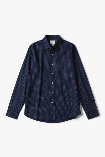 [남성] 코튼 베이직 도트 프린트 셔츠
