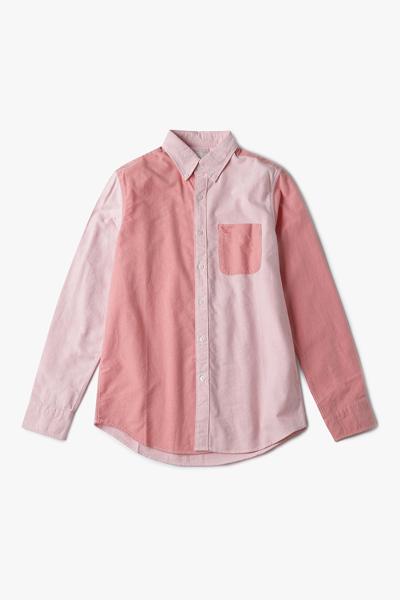 [남성] 코튼 클래식핏 컬러블록 옥스포드 셔츠