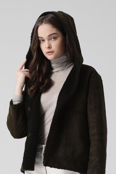 [여성] 베이직 숏 후드 코트