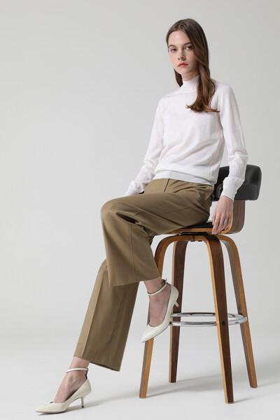 [여성] 울혼방 루즈 일자핏 베이직 팬츠