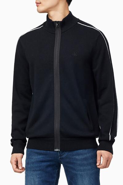 남성 에센셜 티핑 집업 스웨터 가디건 J316378BEH