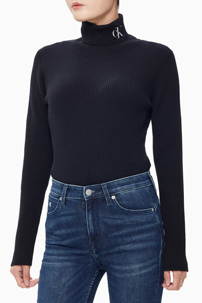 여성 립 터틀넥 스웨터 J214821BEH
