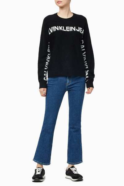 여성 로고 바나나 스웨터 J215131BEH