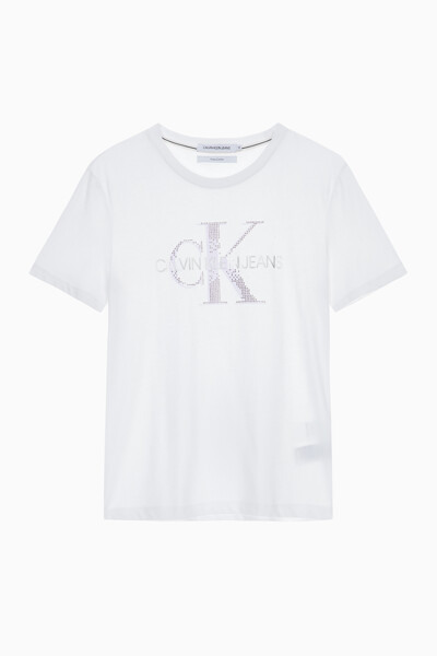 여성 모노그램 로고 스트레이트 핏 반팔 티셔츠 J214196YAF