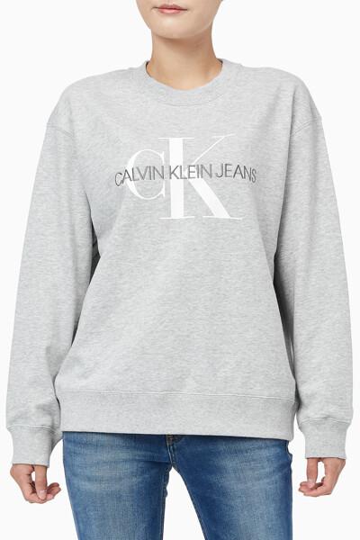 여성 에이 모노그램 로고 크루넥 스웨트 셔츠