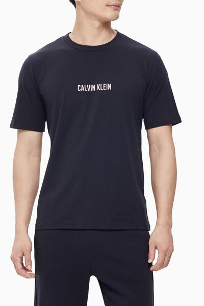 남성 스몰 리니어 로고 반팔 티셔츠