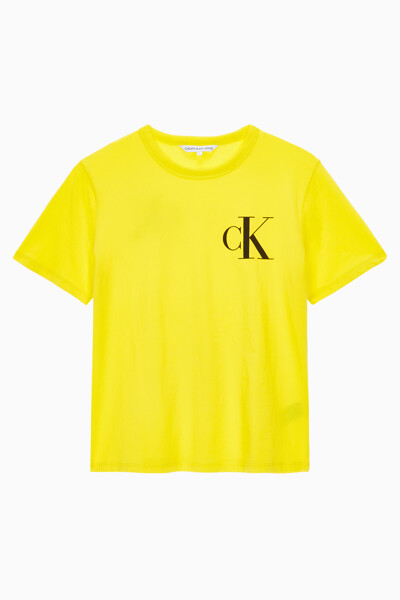 여성 백 인스티튜셔널 로고 슬림핏 반팔 티셔츠 J213562ZHN