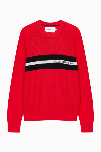 남성 체스트 스트라이프 스웨터 J314115XA9