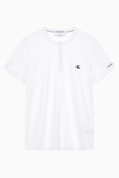 남성 CK 에센셜 헨리넥 반팔 티셔츠 J315064YAF