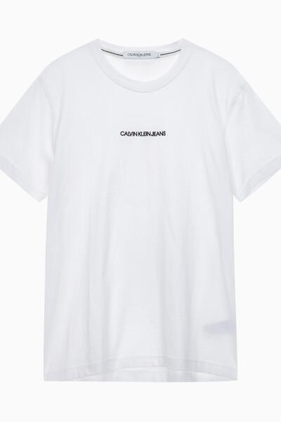 남성 체스트 로고 레귤러핏 반팔 티셔츠 J315186YAF