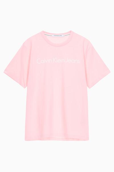 남성 레귤러핏 인스티튜셔널 로고 반팔 티셔츠 J315410TIR