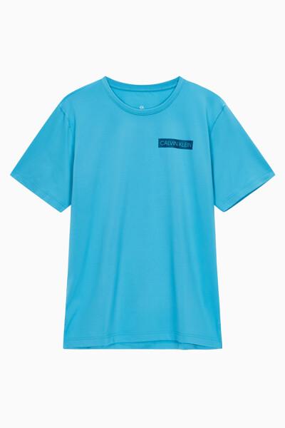 남성 레귤러 핏 로고 트레이닝 반팔 티셔츠 4MT0K121491