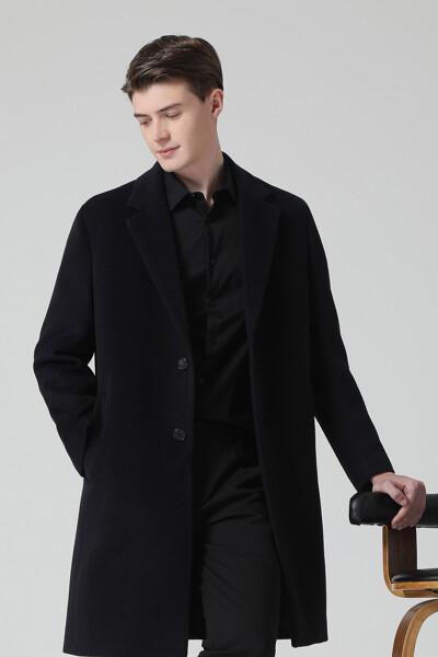 [남성] 알파카혼방 박시핏 베이직 롱 코트