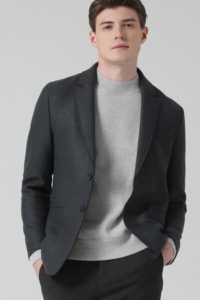 [남성] 울 스탠다드핏 베이직 자켓