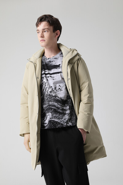 [남성] 포멀 후드 다운 코트