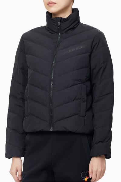여성 리플렉티프 로고 다운 자켓