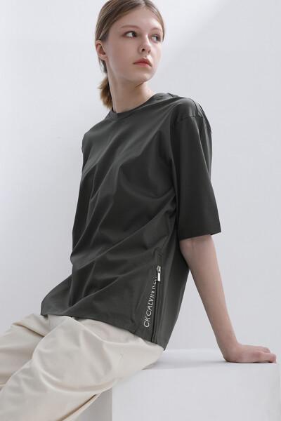 [여성] 코튼 솔리드 반팔 티셔츠