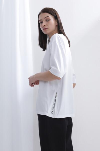 코튼 솔리드 반팔 티셔츠