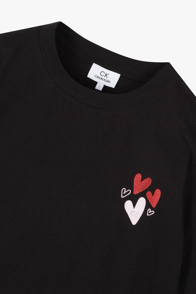 코튼 하트 티셔츠