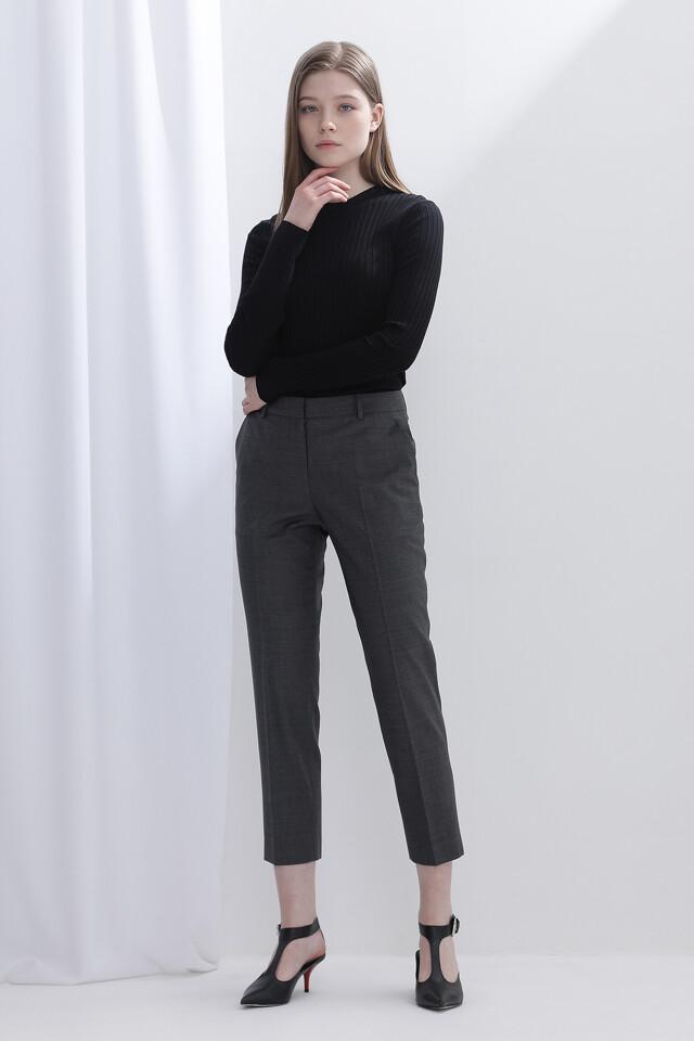 울혼방 일자핏 포멀 팬츠