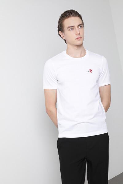 [남성] 코튼 하트 반팔 티셔츠