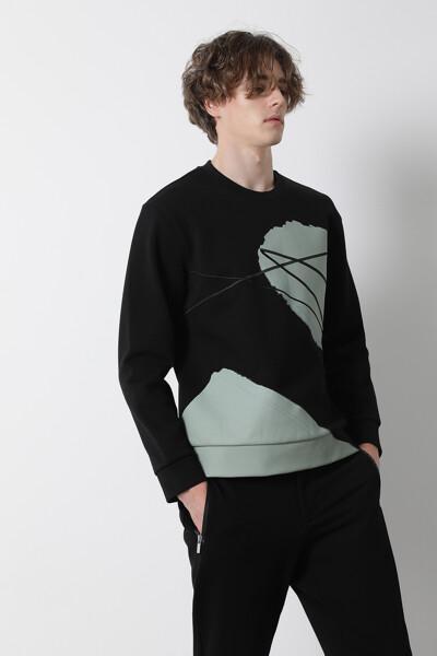 [남성] 그래픽 스페이서 스웨트셔츠