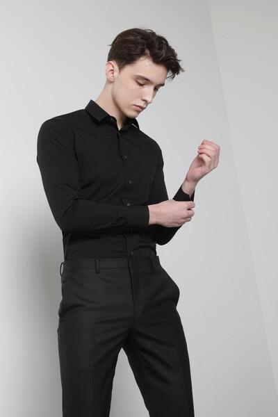 면혼방 스탠다드핏 스트레치 셔츠