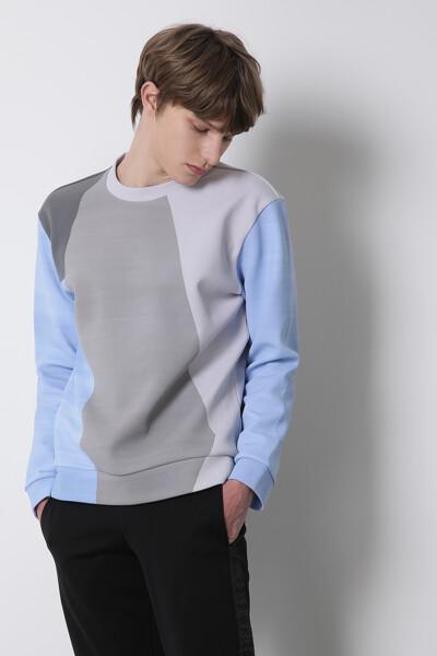 스페이서 컬러블록 스웨트 셔츠