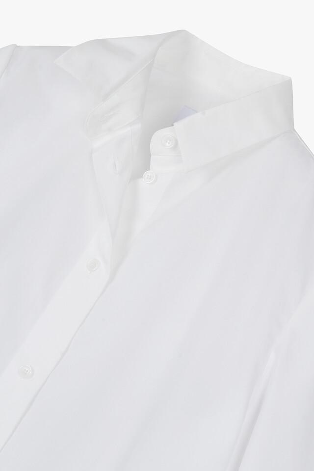 코튼 언발란스 반팔 셔츠