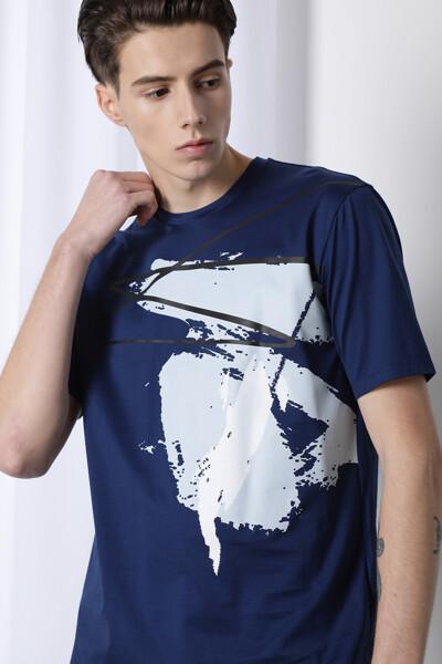 더블 머서라이즈 코튼 티셔츠