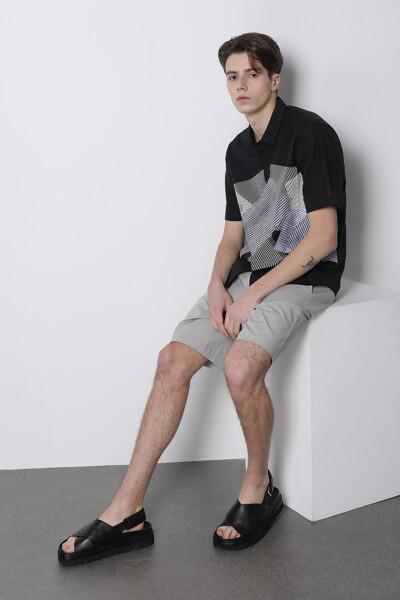 지오 믹스 미디어 프린트 셔츠