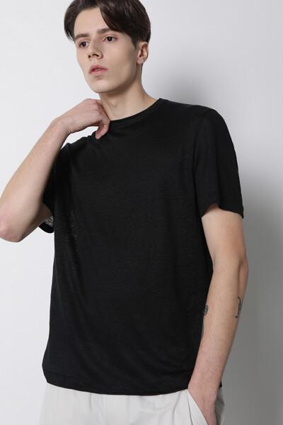 린넨 믹스 티셔츠