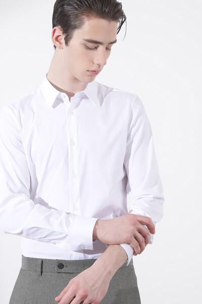 솔리드 드레스 셔츠