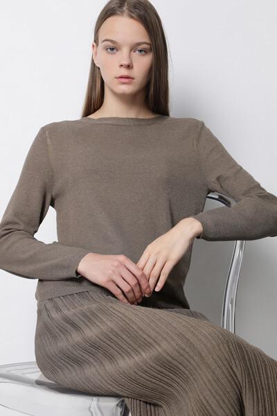 보트넥 베이직 셋업 스웨터