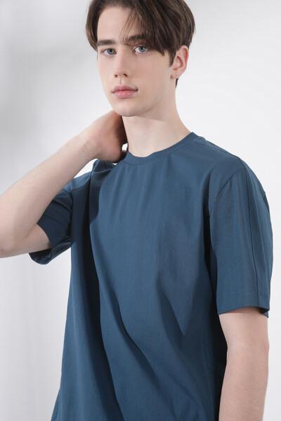 우븐 믹스 티셔츠
