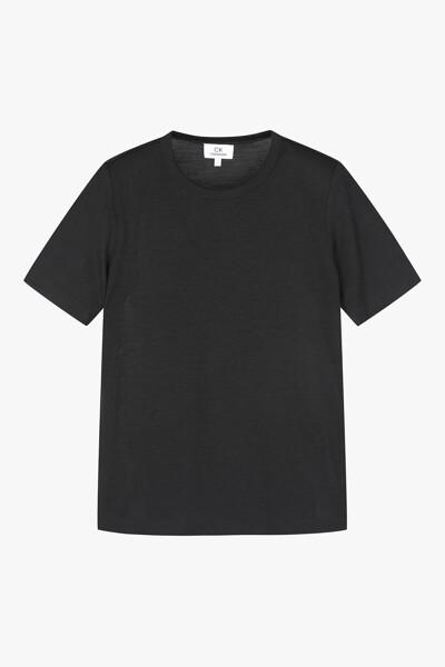 파인 실크 울 티셔츠