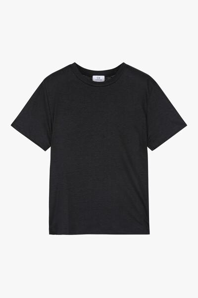 린넨 심플 반팔 티셔츠