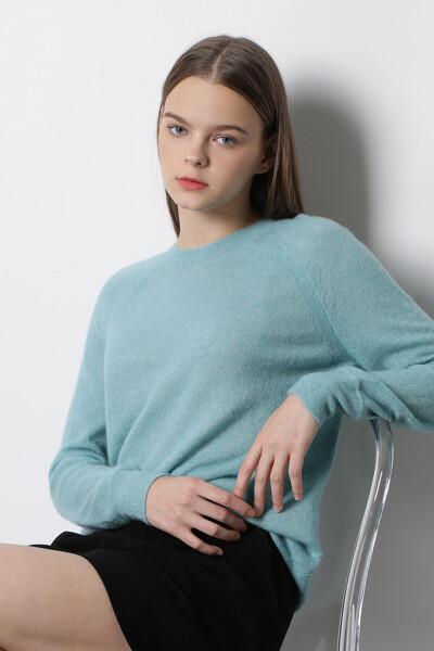 어스메트릭 헴라인 스웨터 탑