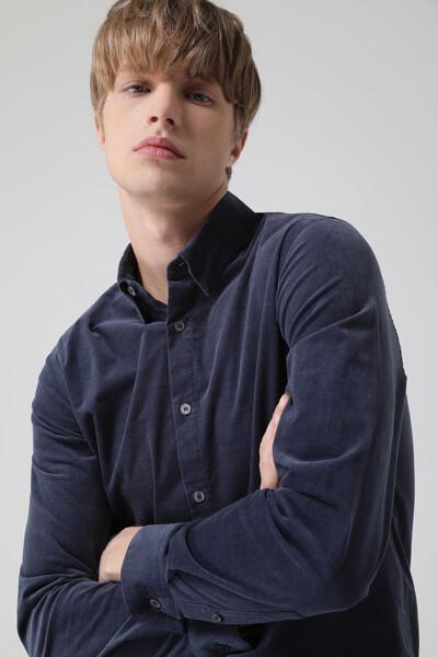 남성 코듀로이 베이직 긴소매 셔츠