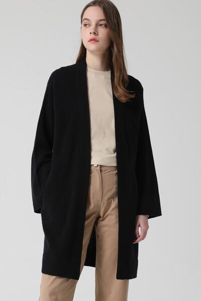 [여성] 캐시미어혼방 베이직 롱 스웨터 가디건